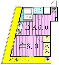 マンション釜鳴[4階]の間取り