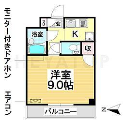 愛知県名古屋市瑞穂区田辺通5丁目の賃貸マンションの間取り