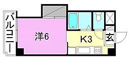 エトワール福音寺[101 号室号室]の間取り