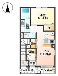 裾野市金沢 新築アパート[105号室]の間取り
