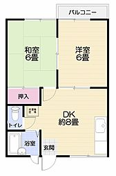 神奈川県横須賀市太田和2丁目の賃貸アパートの間取り