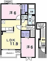 ガーデンハウス サニー[2階]の間取り