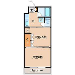 イーグルハイツ高松[4階]の間取り