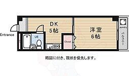 シティハイツ 3階1DKの間取り