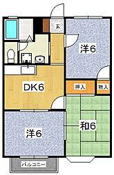 星第3アパート[322号室号室]の間取り