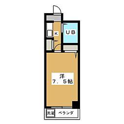 レジデンスオークラ[3階]の間取り