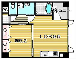 大阪府茨木市大池2丁目の賃貸マンションの間取り