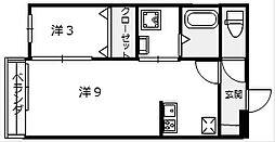 シャトーブラン[205号室]の間取り