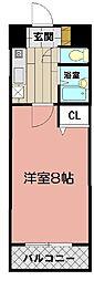 藤本ビルNo.21 中津口[401号室]の間取り