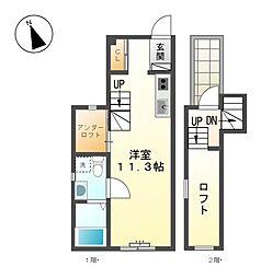 Lugar bonito[3階]の間取り