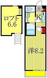 ヴィラージュ新松戸[2階]の間取り