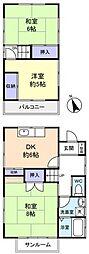 [一戸建] 千葉県船橋市大穴南1丁目 の賃貸【/】の間取り