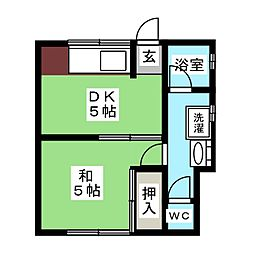 大和荘A[1階]の間取り