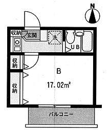 セレーネ京町[303号室]の間取り