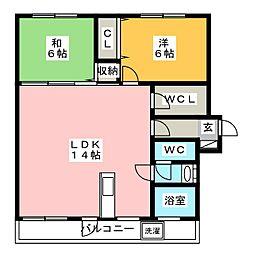 若久ビル[5階]の間取り