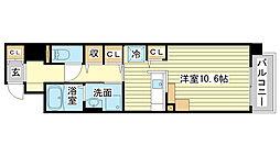 兵庫県姫路市土山1丁目の賃貸マンションの間取り