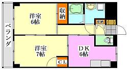 千葉県船橋市夏見台1丁目の賃貸マンションの間取り