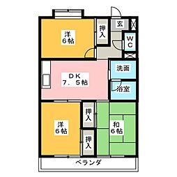 シティーガーデン五軒家[1階]の間取り