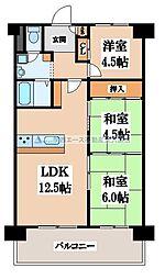 枚岡レックスマンション[6階]の間取り