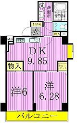 Circolare Ayase[3階]の間取り