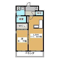 仮称 清水様共同住宅[2階]の間取り