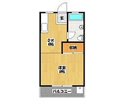トーヨーマンション2号棟[2階]の間取り