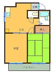 コーポリカII[3階]の間取り