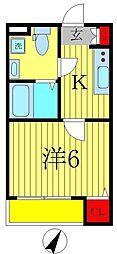 千葉県松戸市新松戸7の賃貸アパートの間取り
