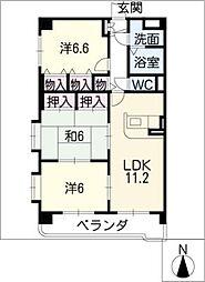 グランドマンション[5階]の間取り