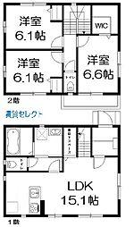 [一戸建] 千葉県松戸市千駄堀 の賃貸【/】の間取り