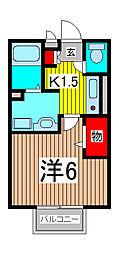 埼玉県さいたま市桜区栄和1丁目の賃貸アパートの間取り