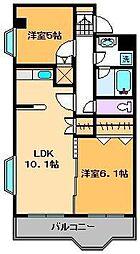 リープマンション[7階]の間取り