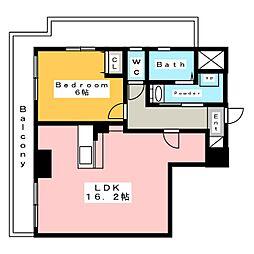 アルデア (ARDEA)[13階]の間取り