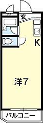 ハイツ高畠[303号室]の間取り