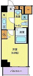 グランヴァン横濱南 9階1Kの間取り