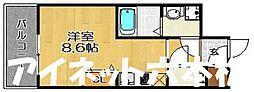 福岡市地下鉄七隈線 渡辺通駅 徒歩5分の賃貸マンション 4階1Kの間取り