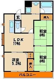 ラフィナートYOK[2階]の間取り