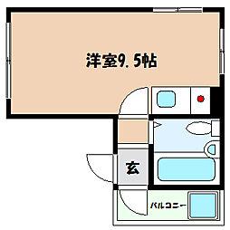 兵庫県神戸市灘区泉通6丁目の賃貸マンションの間取り