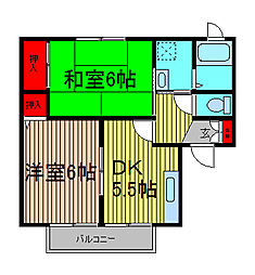 セジュールエメロード[2階]の間取り
