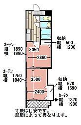中津口センタービル[602号室]の間取り
