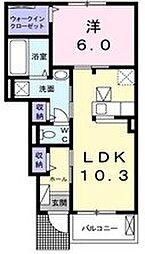 ルラジオン[1階]の間取り