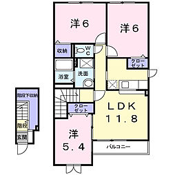ブラウローゼ[2階]の間取り