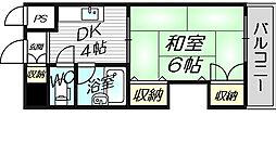 グレイスフル中崎I[8階]の間取り