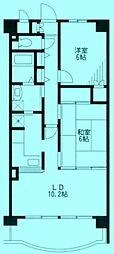 クオーレ壱番館[2階]の間取り