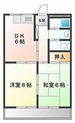 甲子園ファイブ[4階]の間取り