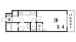 リブリ・芦原通 2階1Kの間取り
