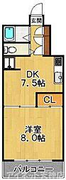 レジデンス松寿[3階]の間取り