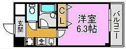 ヴィラサンシャイン 長田東3 長田8分[5階]の間取り