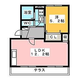タウニーJ[1階]の間取り