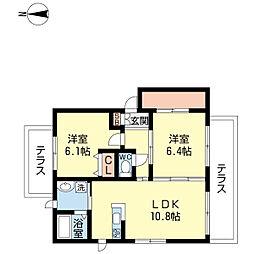 シャーメゾンクオーレ[1階]の間取り